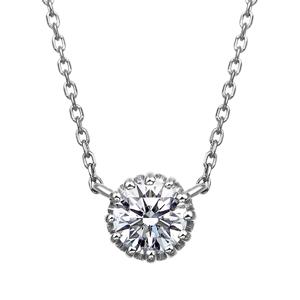PT900 12ポイントセッティング ダイヤモンド ネックレス 40cm 0.3ct