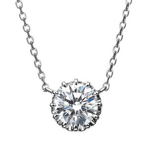 PT900 12ポイントセッティング ダイヤモンド ネックレス 40cm 0.5ct