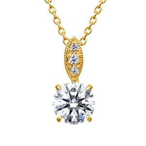 K18YG ダイヤモンド ペンダント ミルグレイン 40cm 0.5ct