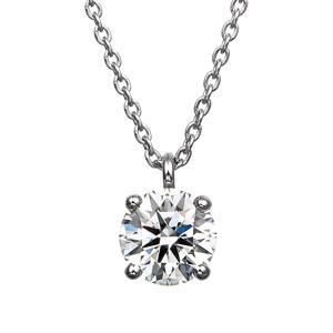 PT900 4ポイントセッティング ダイヤモンド スルー ペンダント 45cm 0.5ct