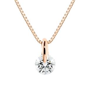 K18PG 1ポイント ダイヤモンド ネックレス 40cm 0.2ct