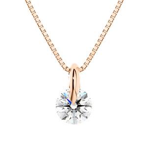 K18PG 1ポイント ダイヤモンド ネックレス 40cm 0.3ct