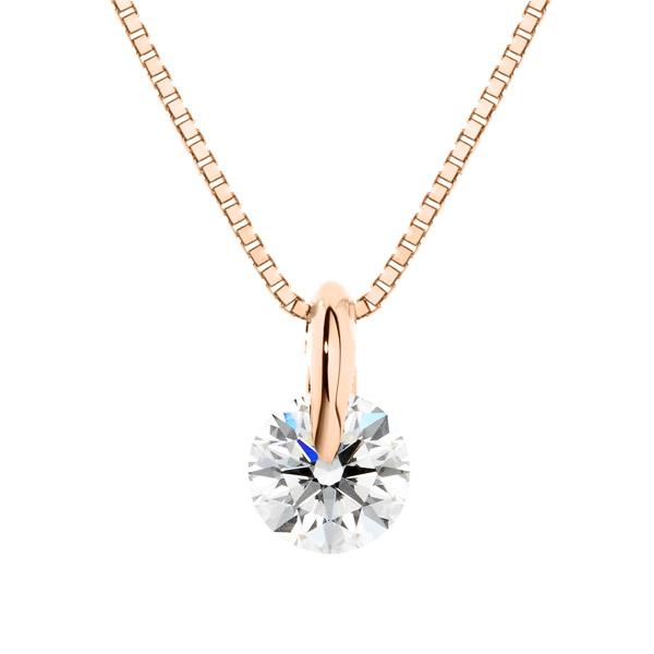 K18PG 1ポイント ダイヤモンド ペンダント 40cm 0.3ct