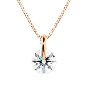 K18PG 1ポイント ダイヤモンド ペンダント 40cm 0.5ct