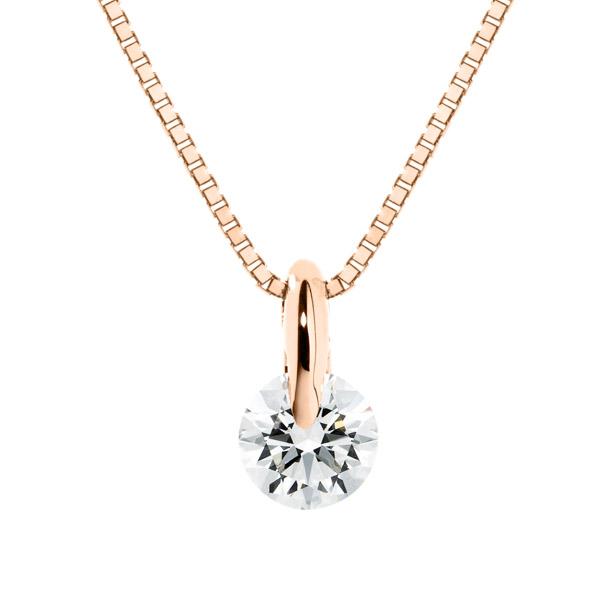 K18PG 1ポイント ダイヤモンド ペンダント 45cm 0.2ct