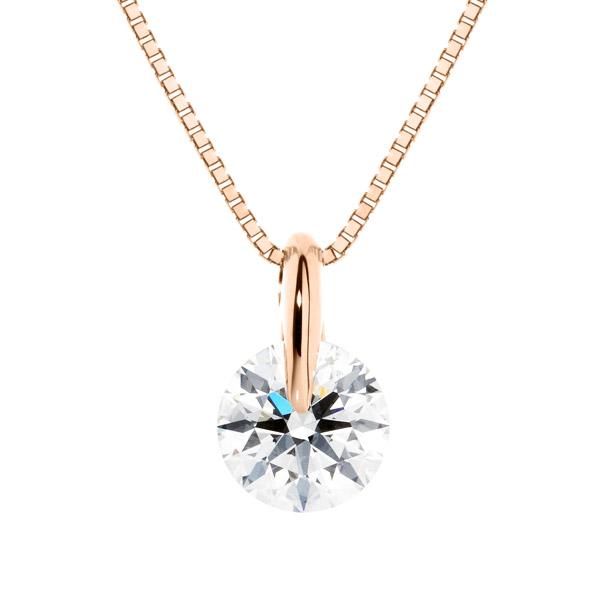 K18PG 1ポイント ダイヤモンド ペンダント 45cm 0.5ct