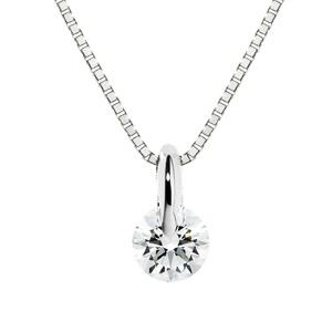 PT900 1ポイント ダイヤモンド ネックレス 40cm 0.2ct