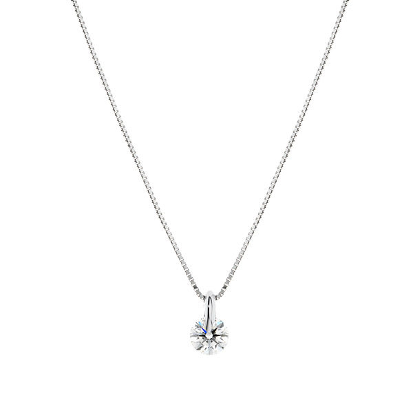 PT900 1ポイント ダイヤモンド ペンダント 40cm 0.3ct
