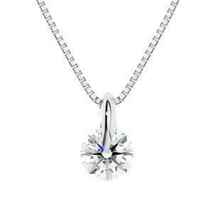 PT900 1ポイント ダイヤモンド ネックレス 40cm 0.3ct