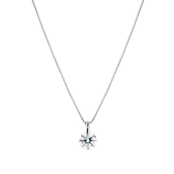 PT900 1ポイント ダイヤモンド ペンダント 40cm 0.5ct