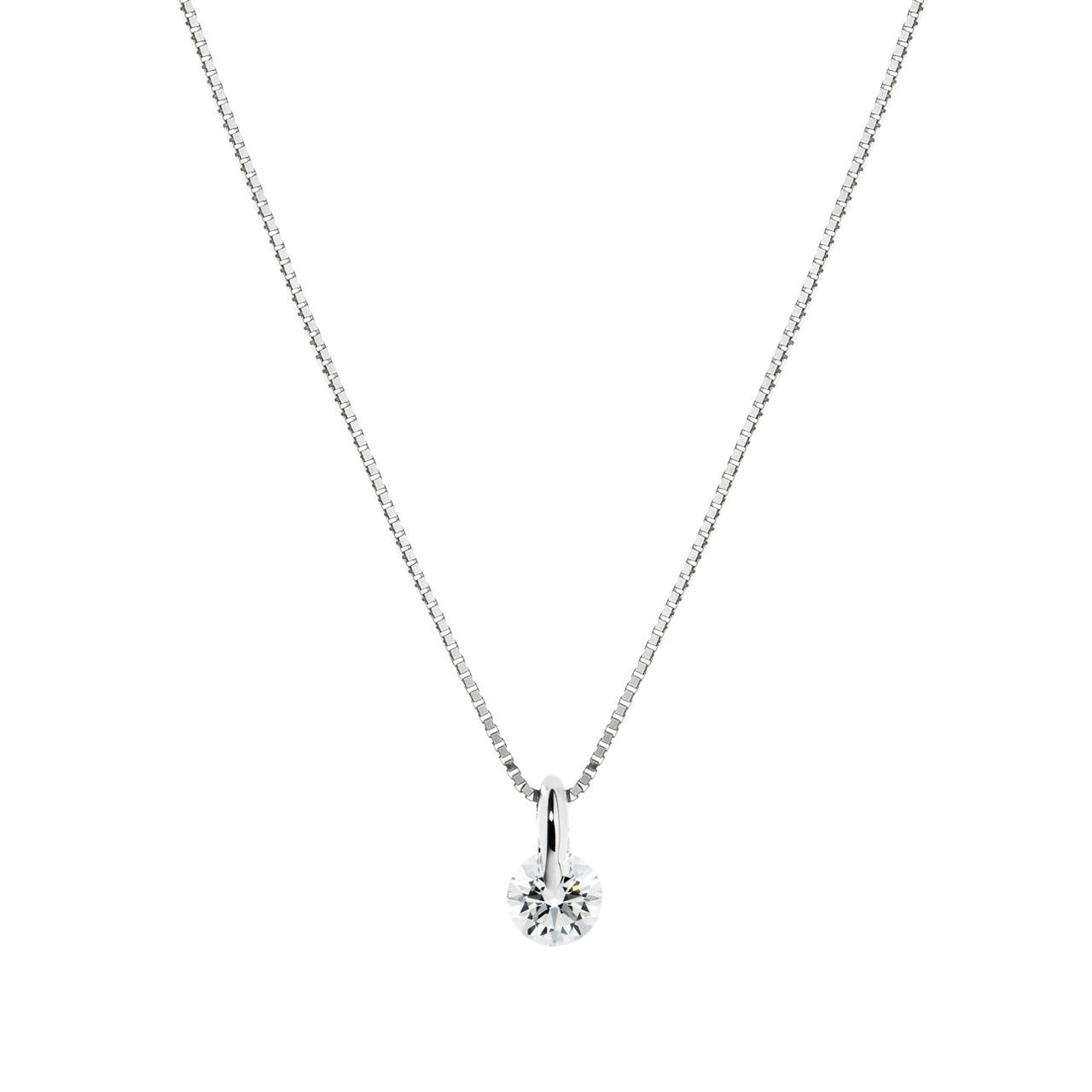 PT900 1ポイント ダイヤモンド ペンダント 45cm 0.2ct