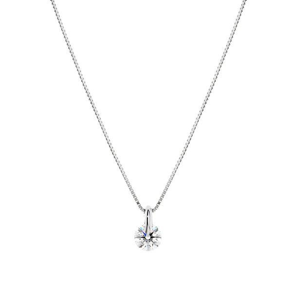 PT900 1ポイント ダイヤモンド ペンダント 45cm 0.3ct