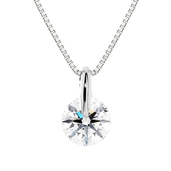PT900 1ポイント ダイヤモンド ネックレス 45cm 0.5ct