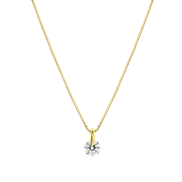 K18YG 1ポイント ダイヤモンド ペンダント 40cm 0.3ct