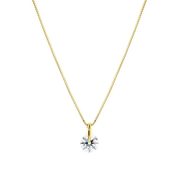 K18YG 1ポイント ダイヤモンド ペンダント 40cm 0.5ct