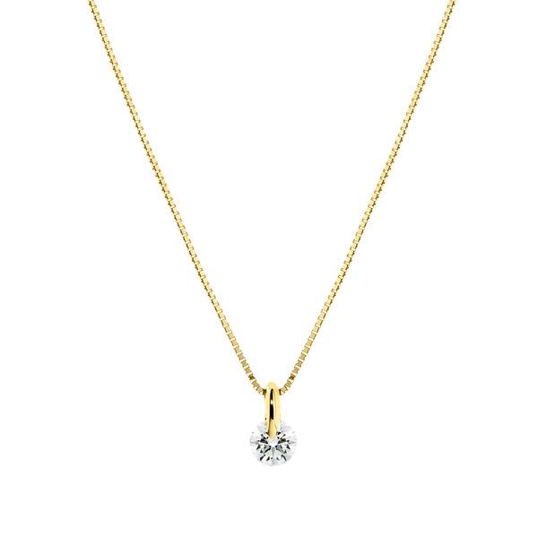 K18YG 1ポイント ダイヤモンド ペンダント 45cm 0.2ct