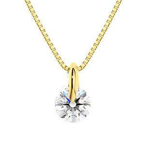K18YG 1ポイント ダイヤモンド ペンダント 45cm 0.3ct
