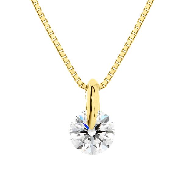 K18YG 1ポイント ダイヤモンド ネックレス 45cm 0.3ct