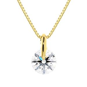 K18YG 1ポイント ダイヤモンド ネックレス 45cm 0.5ct