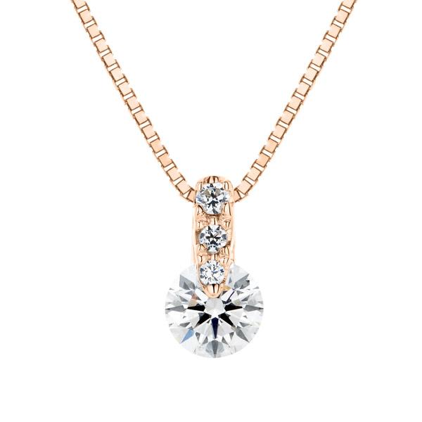 K18PG 1ポイント ダイヤモンド グラデーション ペンダント 40cm 0.2ct