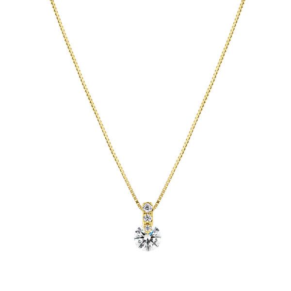 K18YG 1ポイント ダイヤモンド グラデーション ペンダント 45cm 0.3ct