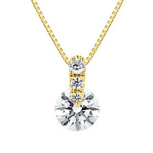 K18YG 1ポイント ダイヤモンド グラデーション ペンダント 45cm 0.5ct