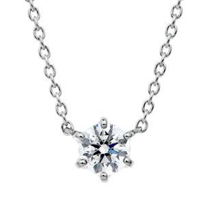 PT950 スプリング 6ポイントセッティング ダイヤモンド ネックレス 45cm 0.3ct