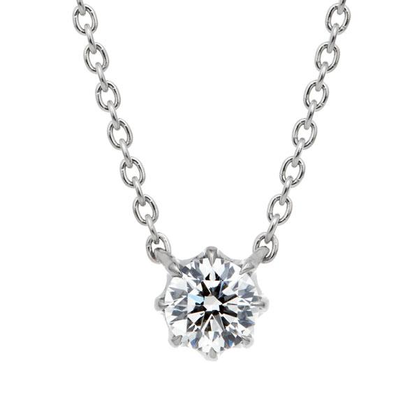 PT950 ヴィダー 8ポイントセッティング ダイヤモンド ネックレス 45cm 0.2ct