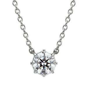 PT950 ヴィダー 8ポイントセッティング ダイヤモンド ネックレス 45cm 0.3ct