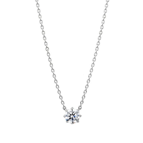 PT950 ヴィダー 8ポイントセッティング ダイヤモンド ネックレス 45cm 0.5ct