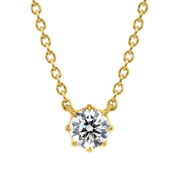 K18YG ヴィダー 8ポイントセッティング ダイヤモンド ネックレス 45cm 0.2ct