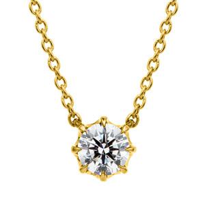 K18YG ヴィダー 8ポイントセッティング ダイヤモンド ネックレス 45cm 0.3ct