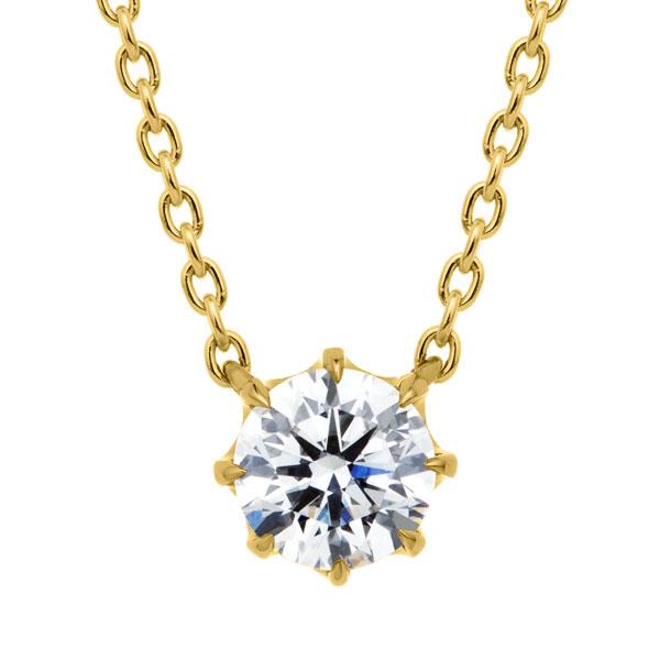 K18YG ヴィダー 8ポイントセッティング ダイヤモンド ネックレス 45cm 0.5ct