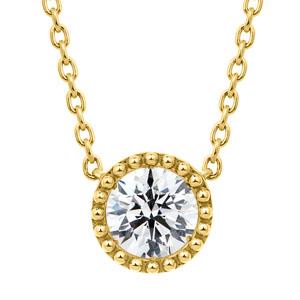 K18YG サークレットグレイン ダイヤモンド ネックレス 45cm 0.5ct