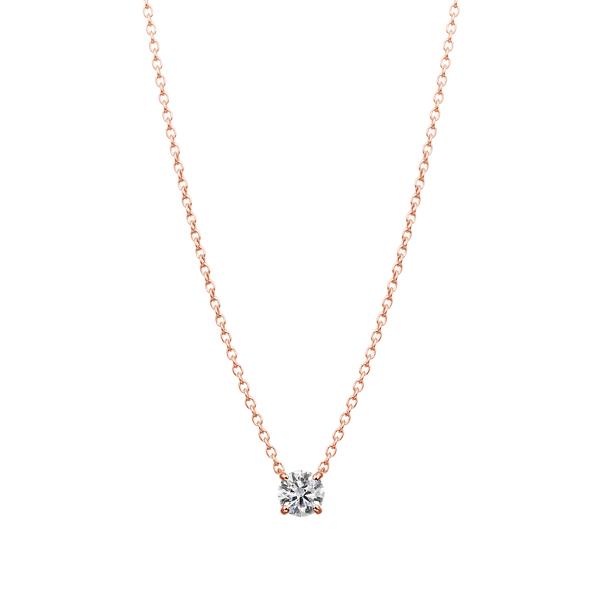 K18PG 4ポイントセッティング ダイヤモンド ネックレス 40cm 0.2ct