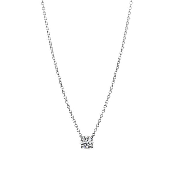 PT900 4ポイントセッティング ダイヤモンド ネックレス 40cm 0.2ct