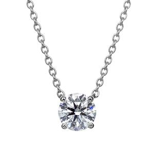 PT900 4ポイントセッティング ダイヤモンド ネックレス 40cm 0.3ct