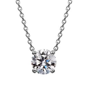 PT900 4ポイントセッティング ダイヤモンド ネックレス 40cm 0.5ct