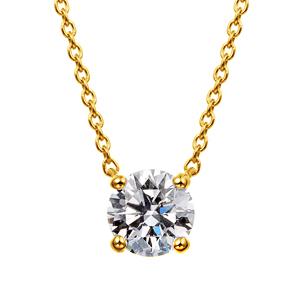 K18YG ダイヤモンド 4ポイントネックレス for 0.50ct〜