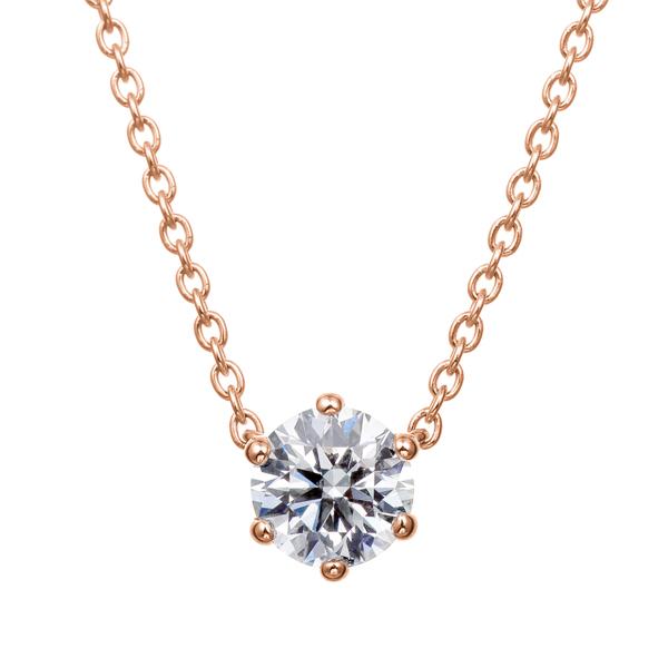 K18PG ダイヤモンド 6ポイントネックレス for 0.30ct〜