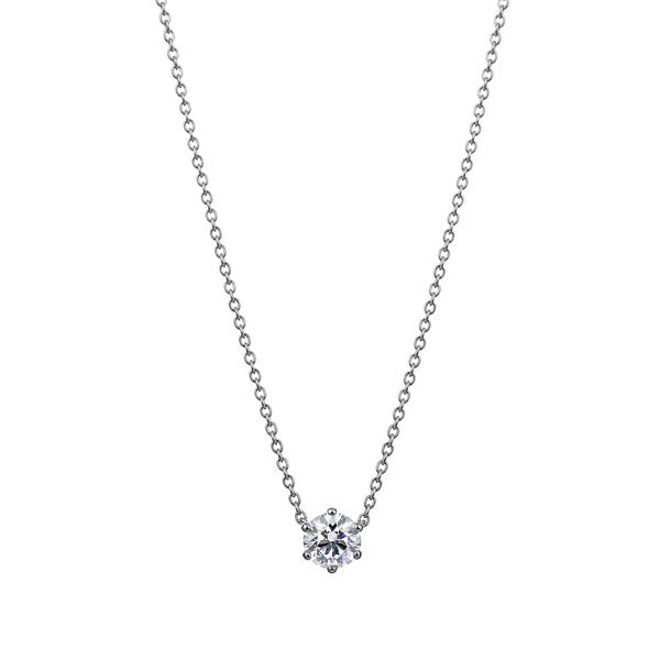 PT900 6ポイントセッティング ダイヤモンド ネックレス 40cm 0.3ct
