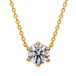 K18YG 6ポイントセッティング ダイヤモンド ネックレス 40cm 0.5ct