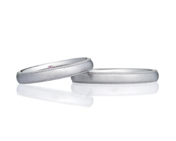 PT950 プラチナ オーバルヘアーライン 3.0リング&PT950 プラチナ オーバルヘアーライン 3.0リング