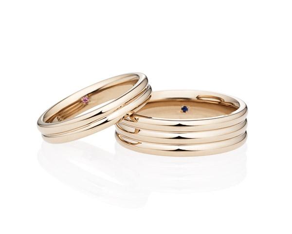 おしゃれで個性的オーバルストレートライン 結婚指輪ならブリリアンスプラス