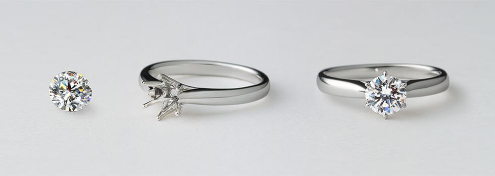 700万通り以上の組み合わせから選べる婚約指輪