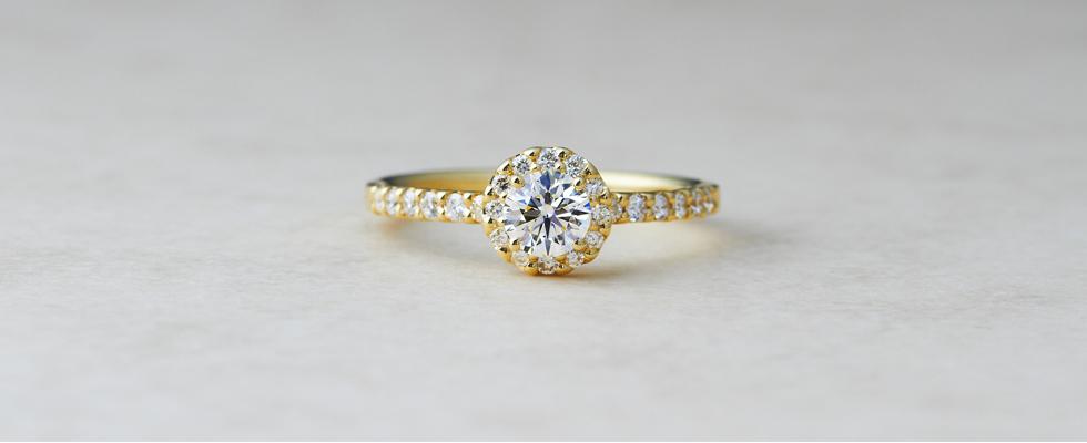 ゴールドの婚約指輪PC用