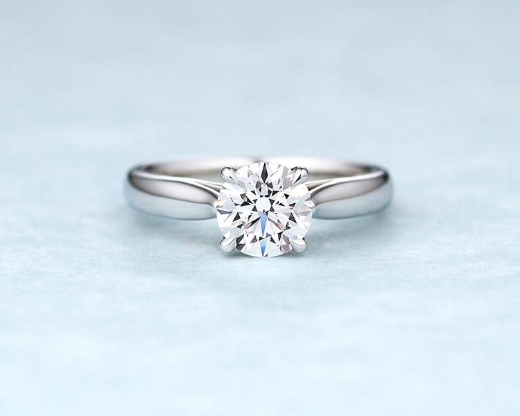 立て爪のソリティア婚約指輪sp