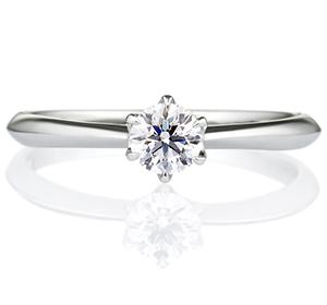 婚約指輪のK18ホワイトゴールド