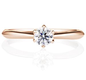 婚約指輪のK18ピンクゴールド