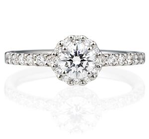 婚約指輪ヘイロータイプ